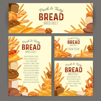 Banery produktów chlebowych