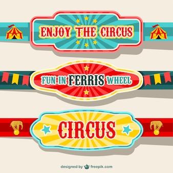 Banery projektowania cyrkowych
