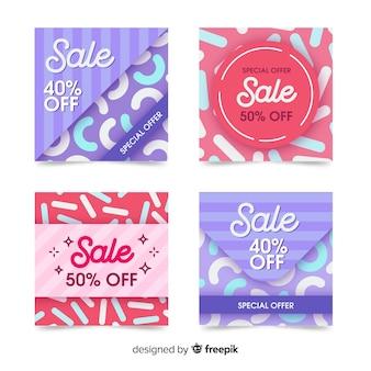 Banery promocji sprzedaży w mediach społecznościowych