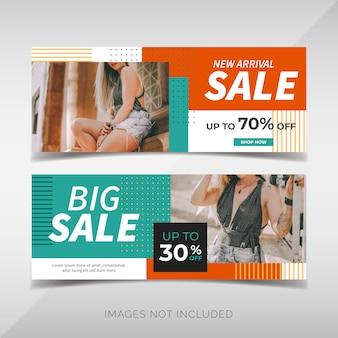 Banery promocyjne sprzedaży mody