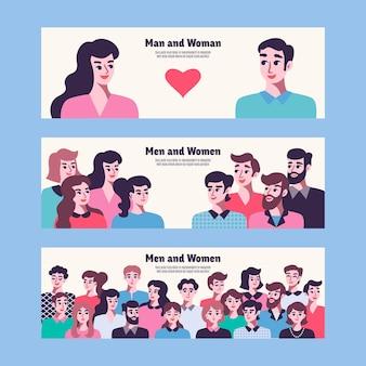 Banery relacji mężczyzn i kobiet