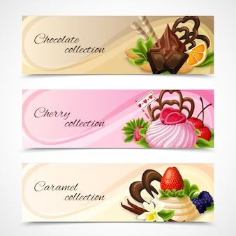 Banery słodyczy poziome