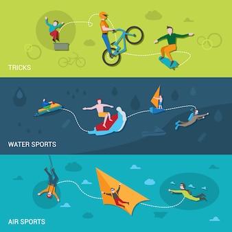 Banery sportów ekstremalnych