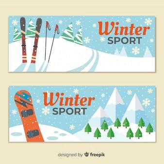 Banery sportowe zimowe