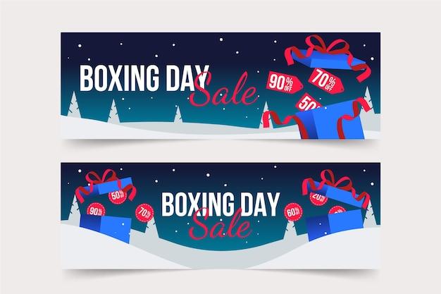 Banery sprzedaży boxing day