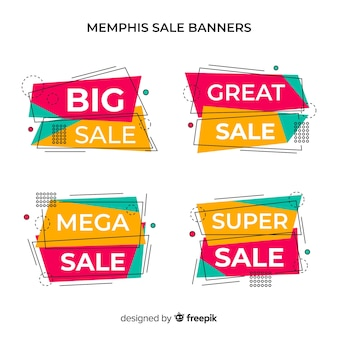 Banery sprzedaży memphis