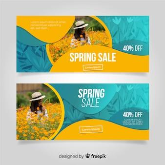 Banery sprzedaży wiosną