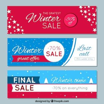 Banery sprzedaży zimowej