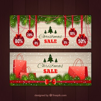 Banery świątecznej sprzedaży