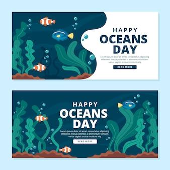 Banery światowy dzień oceanów