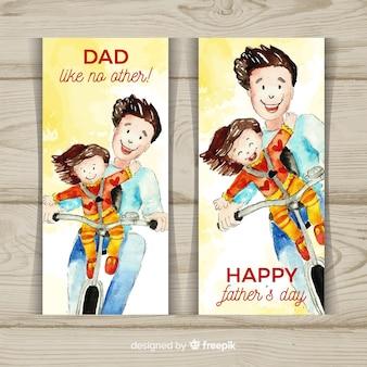 Banery szczęśliwego dnia ojca