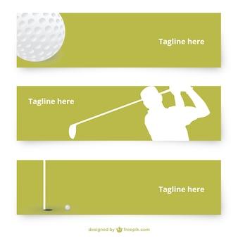 Banery wektora golfa