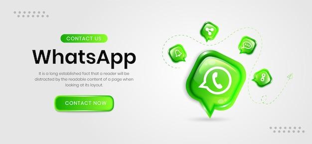 Banery whatsapp w mediach społecznościowych