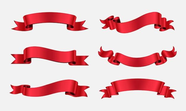 Banery z czerwoną wstążką