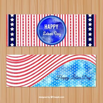 Banery z flagą stanów zjednoczonych