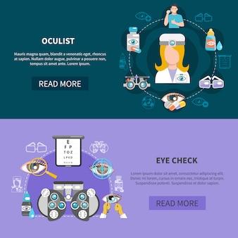 Banery z okulistycznym testem wzroku