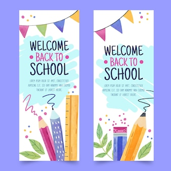 Banery z powrotem do szkoły