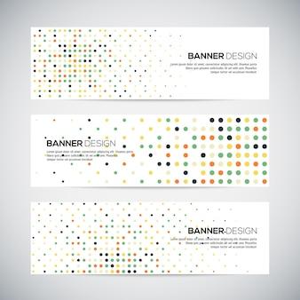 Banery z streszczenie kolorowe losowe geometryczne tło