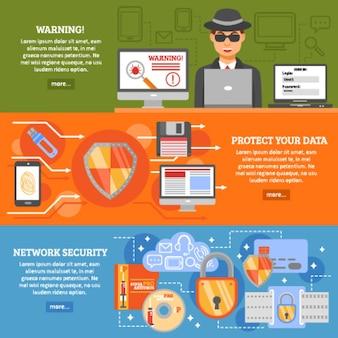 Banery zabezpieczeń sieci
