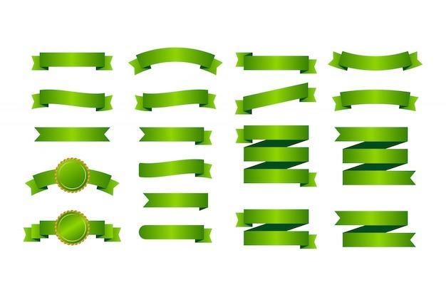 Banery zielone wstążki.