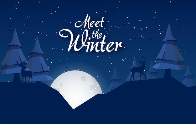 Banery zimowej wyprzedaży szablon postu ze śnieżnym tłem