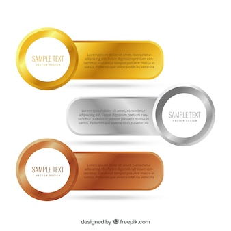 Banery złote, srebrne i brązowe