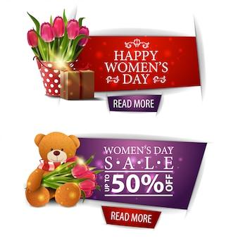 Banery zniżki nowoczesny dzień kobiet