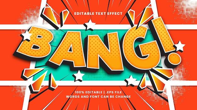 Bang komiksowy efekt tekstowy edytowalny w stylu retro i vintage