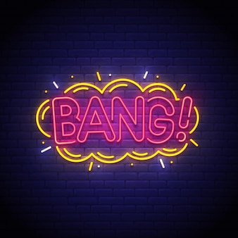 Bang neonowy znak