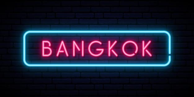 Bangkok neonowy znak.