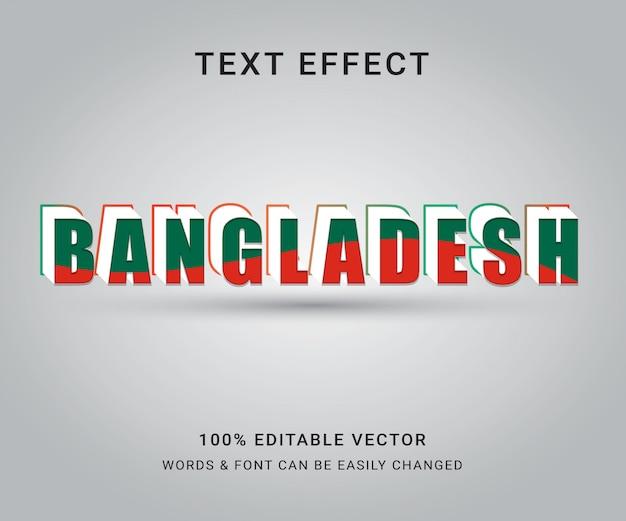 Bangladesz pełny edytowalny efekt tekstowy