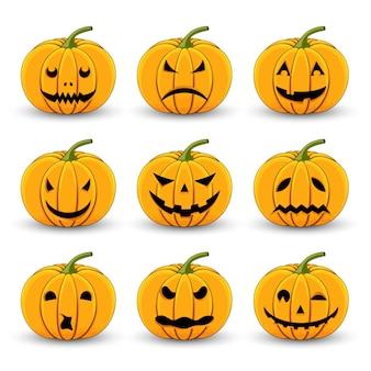 Banie ustawiać dla halloween na białym odosobnionym tle