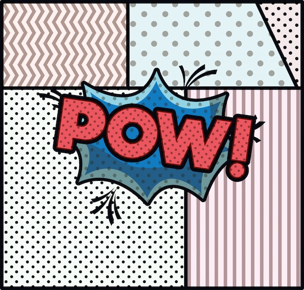 Bańka ekspresowa ze stylem pop pop art