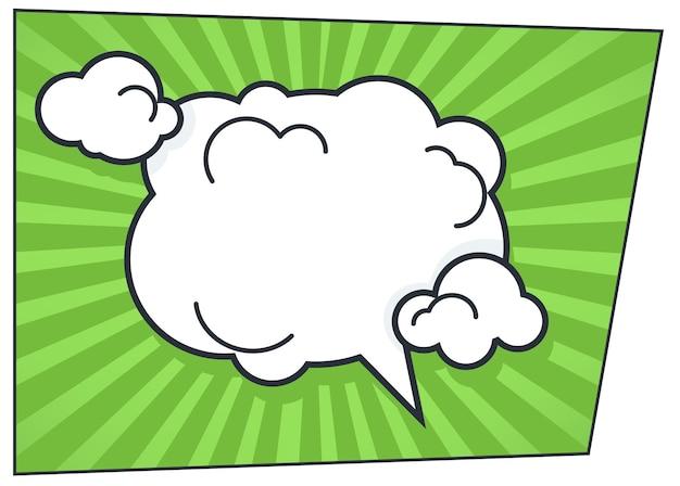 Bańka komunikacji lub myśli w stylu komiksowym. komentarz osoby lub pomysłu na charakter. rozmowa i myślenie, dialog lub czat. uwaga pop-artu, wektor ekspresyjny w płaskiej ilustracji