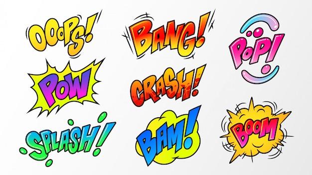 Bańka mowy wybuchy komiksu
