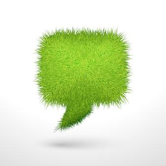 Bańka zielona trawa na białym tle