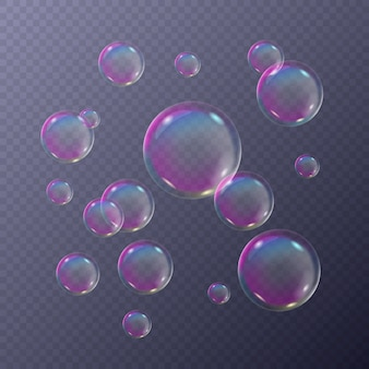 Bańki mydlane pieniste w kolorach tęczy