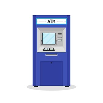 Bankomat automatyczny automat płatniczy. styl płaska konstrukcja