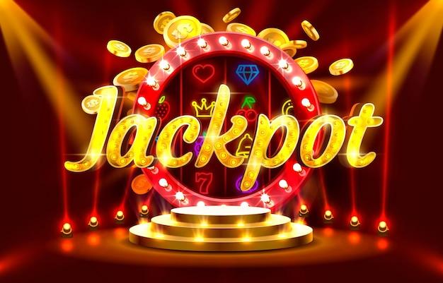Bankomat na monety w kasynie jackpot zagraj teraz w wektor