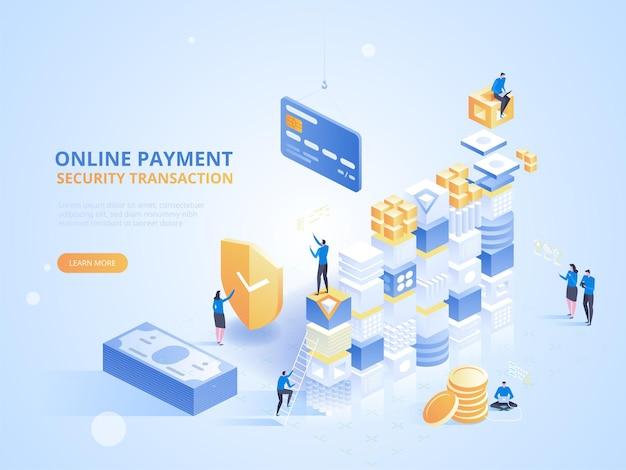 Bankowość internetowa. bezpieczna transakcja płatności online.
