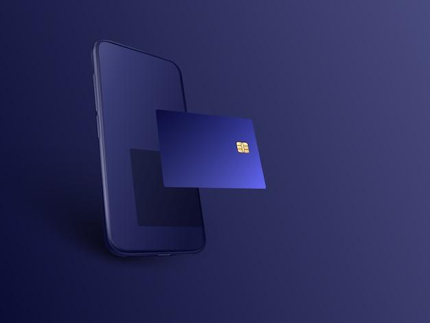 Bankowość komórkowa i internetowa. transakcja bezpieczeństwa płatności online za pomocą karty kredytowej. ochrona zakupy bezprzewodowe płacić za pośrednictwem smartfona. płatny transfer technologii cyfrowej.