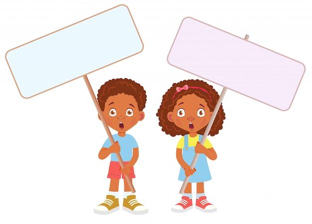 Banner afrykańskiego dziecka gospodarstwa