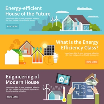 Banner energy saving house