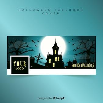 Banner facebooka z koncepcją halloween