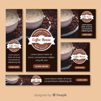 Banner fotograficzny kawy