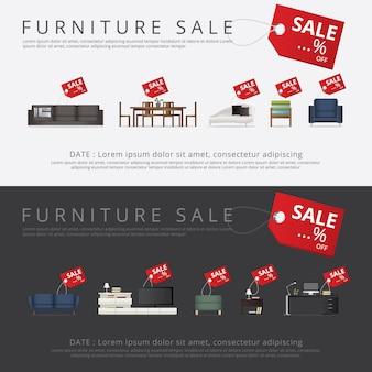 Banner furniture sale reklama flayers