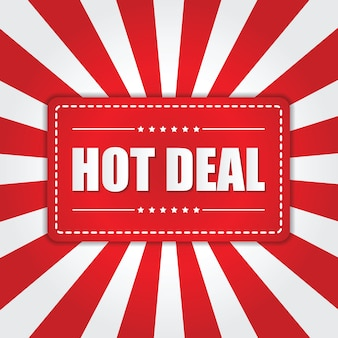 Banner hot deal z efektem sunburst