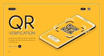 Banner internetowy usługi weryfikacji kodu QR