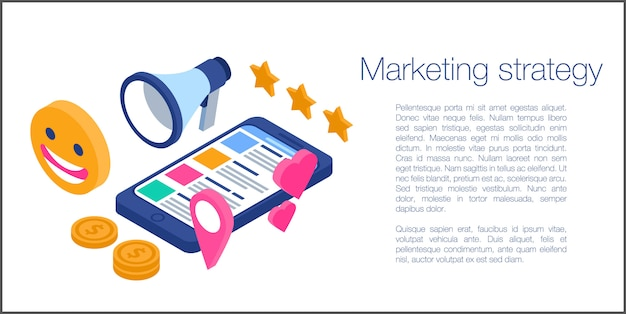 Banner koncepcji strategii marketingowej