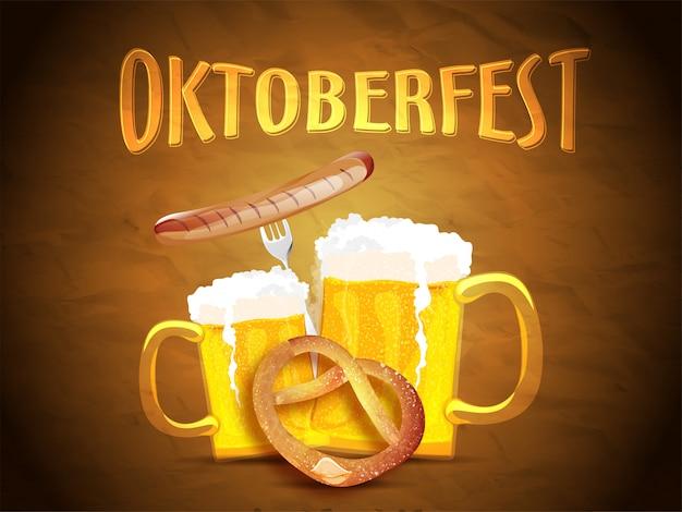 Banner lub projekt plakatu oktoberfest
